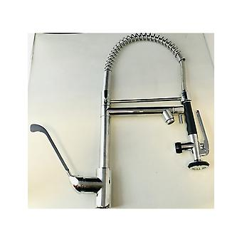 Industrial Kitchen Tap With Clinical Leverage and Multi-Jet Shower