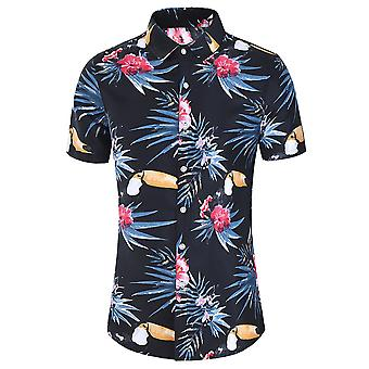 Allthemen Men's Hawaiian T-shirts Casual Printed Short Sleeve Shirts