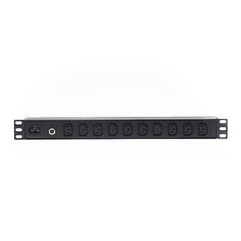 1Ru 10 Way C13 Výstup Horizontální Pdu Rack Mount Power Rail 10A