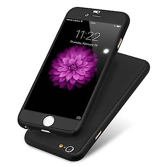 Stuff Certified® iPhone 6S Full Body 360 ° Full Cover Case + Screen protector Black