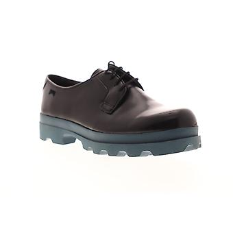 Camper Mil  Womens Black Leather Lace Up Oxfords Flats Shoes