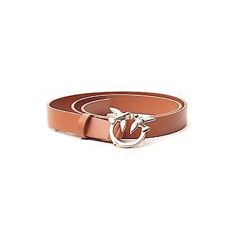 Pinko 1h20rgy5ffl11 Mujer's Cinturón de Cuero Marrón