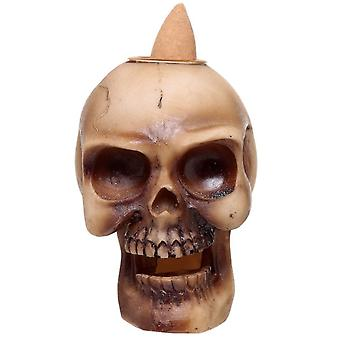 Gothic Homeware Small Skull Backflow Incense Burner