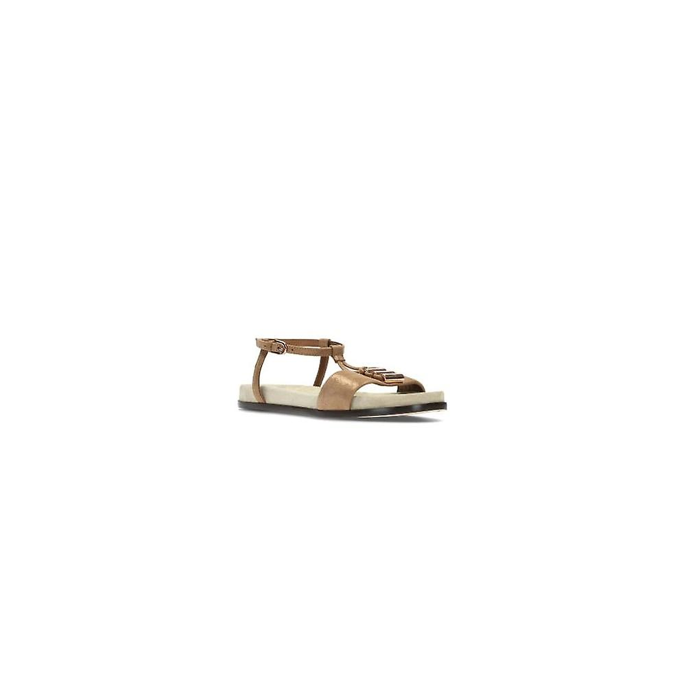 Clarks Agean Cool Bronze Leather Womens Strappy Sandals