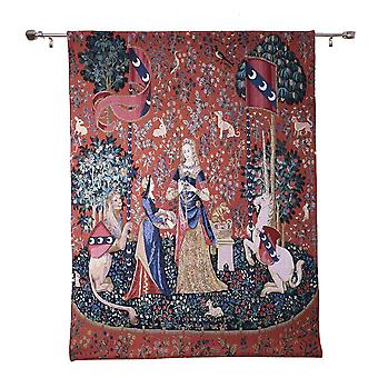 Wall hanging-lady & unicorn sense of smell | wall tapestry - available in 2 sizes
