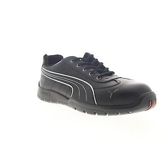 Puma Safety Daytona Low  Mens Black Mesh Lace Up Work Boots Shoes