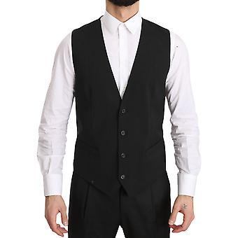 Dolce & Gabbana Gray Gilet STAFF Regular Fit Formal Vest -- TSH3473008