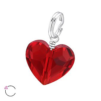 Heart Crystal From Swarovski® - 925 Sterling Silver Charms - W28995x