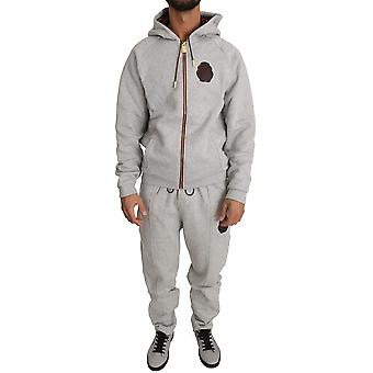 Gray cotton sweater pants tracksuit a35