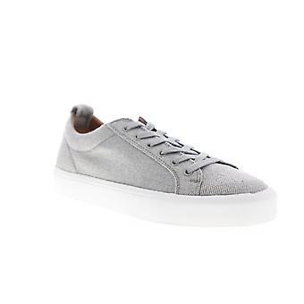 Steve Madden Mens Gray Canvas Low Top Lace Up Lifestyle Sneakers Chaussures
