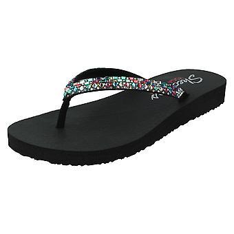 Skechers damskie z sandałami z pianki do jogi Shine Away 32918