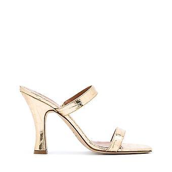 Paris Texas Px214xclabplatino Women's Gold Leather Sandals