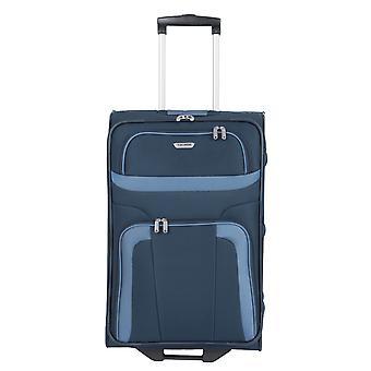 travelite Orlando Trolley M, 2 rollen, 63 cm, 58 L, Blauw