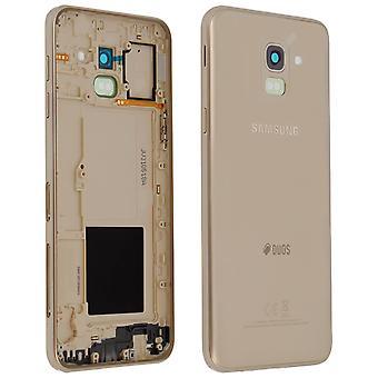 Originele Galaxy J6 (2018) accuhoes Achterkant + Samsung Gold knoppen