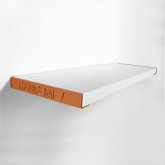 Pendure-me cor prateleira branca, laranja em metal 60x23x3 cm