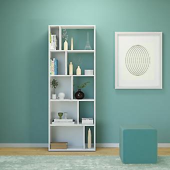 Libreria Skip Color Bianco in Truciolare Melaminico 62x24x166 cm
