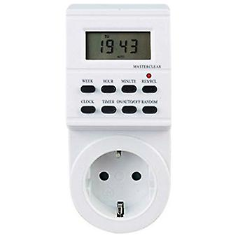 Digital Timer Silver Electronics 3600W White