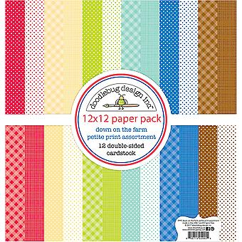 Doodlebug Design Down on the Farm 12x12 Inch Petite Print Paper Pack