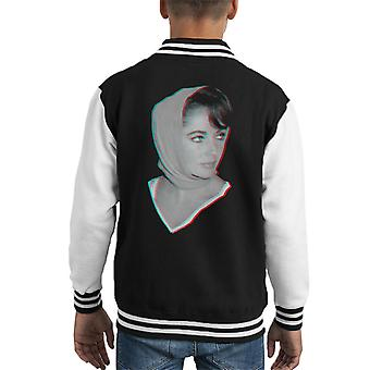 Elizabeth Taylor 1959 3D Effect Kid's Varsity Jacket