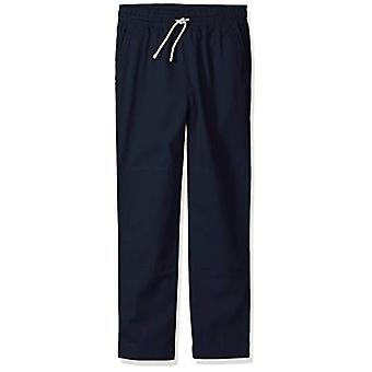 Brand- LOOK par Crewcuts Boys' Lightweight Pull on Chino Pant, Navy, La...