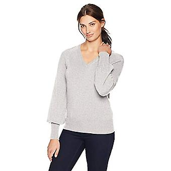 Brand - Lark & Ro Women's Sweaters V Neck Cashmere Sweater with Bell S...
