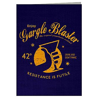 Gargle Blaster Hitchhikers Guide Greeting Card