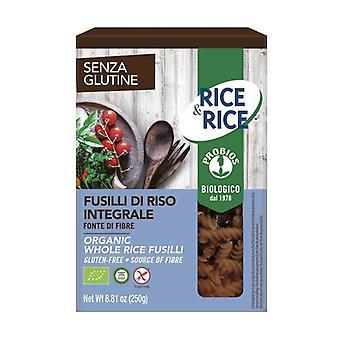 Bruine rijst fusilli 250 g