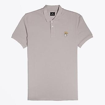 PS Paul Smith  - Cotton 'Angel Monkey' Polo Shirt - Grey