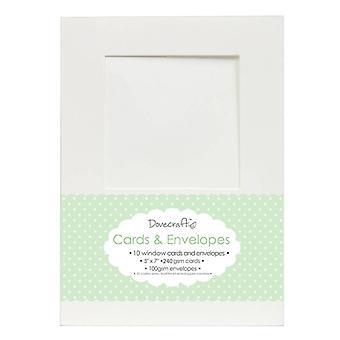 Dovecraft 10 Firkantet vindu 5x7 kort & Konvolutter