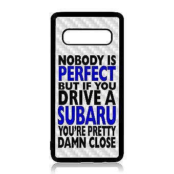Samsung S10 PLUS Shell mit Nobody ist perfektesubaru Design