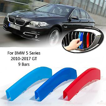 BMW 5-serie 2010-2017 GT 9 Bars Clip In Grill M Power Kidney Stripes Cover
