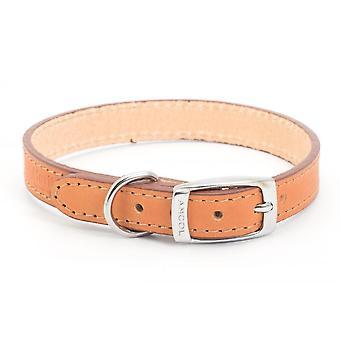 Ancol Heritage Leather Collar - Tan - Dimensiune 2 (14 inch)