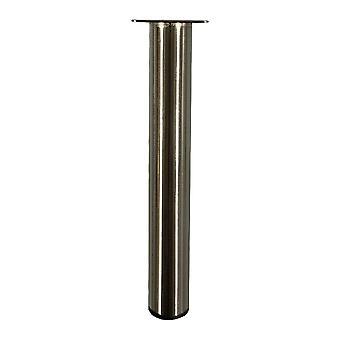Yuvarlak paslanmaz çelik mobilya bacak 30 cm