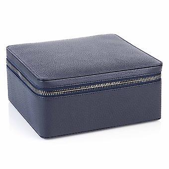 Indigo Blue Richmond Nahka Zip noin Korut Box