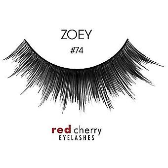 Red Cherry False Eyelashes - #74 Zoey - Perfect Curl Handcrafted Lashes