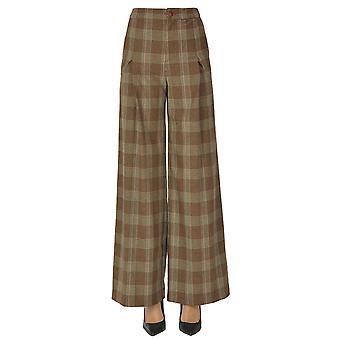 Malìparmi Ezgl194042 Femmes-apos;s Pantalon en laine brune