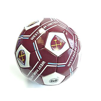 West Ham United Sprint Ball Size 5 WH04902 Official Burgundy/White