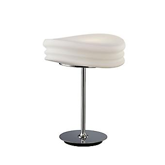 Inspired Mantra - Mediterraneo - Table Lamp 2 Light E27 Medium, Polished Chrome, Frosted White Glass