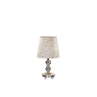 Ideal Lux Queen - 1 lekka mała lampa stołowa Złoto ze szklaną dekoracją, E27