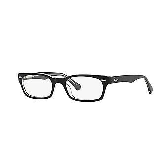 راي بان RB5150 2034 أعلى الأسود على نظارات شفافة