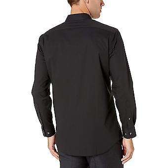 أساسيات الرجال & apos;ق العادية تناسب التجاعيد مقاومة التجاعيد قميص اللباس