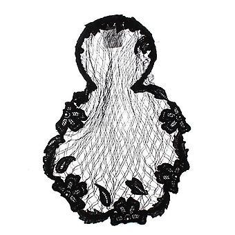 Dolce & Gabbana Black Floral Crochet Hair Net -- SIG3428592