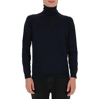 Laneus S2302cc27dbl Men's Blue Silk Sweater