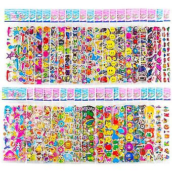 20 Sheets Different Bulk Stickers 3d Puffy Assorted Scrapbook Stickers Cartoon
