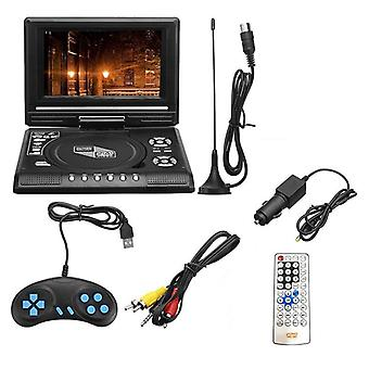 Tv Home Car Dvd Player Portable Player Usb Sd Cards Rca Portable Cable Game Rotate Lcd