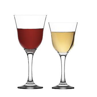 LAV Vals Vintage Copas de Vino Rojo y Blanco - 250ml & 295ml - Set de 12 Copas