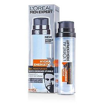 Men Expert Hydra Energetic Skin & Designer Stubble Gel Moisturiser (Pump) 78201733 50ml or 1.7oz