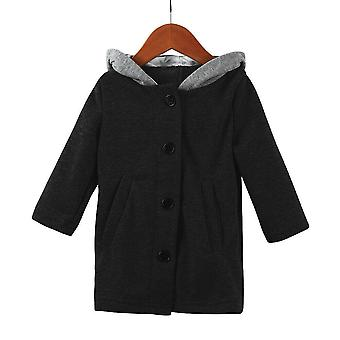 Toddler Kid Autumn Clothes Cute Long Sleeve Rabbit Ear Hooded Coat Warm Jacket