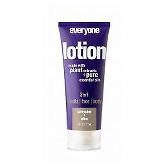 EO Products 3-in-1 Lotion, Lavender Aloe 6 Oz