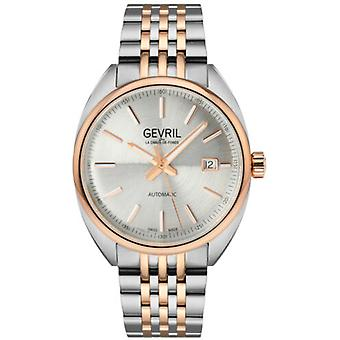 Gevril Men's 48700 Five Points Swiss Automatic Two-Tone IP Steel Date Watch